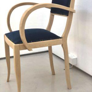 Bridge Chair Blue velvet