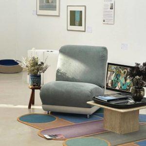 Pair of Vintage velvet armchairs